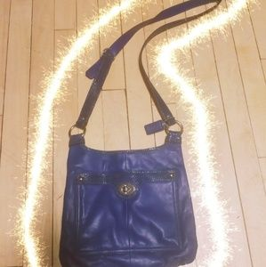 Coach Crossbody Leather Purse Navy Blue Never Used